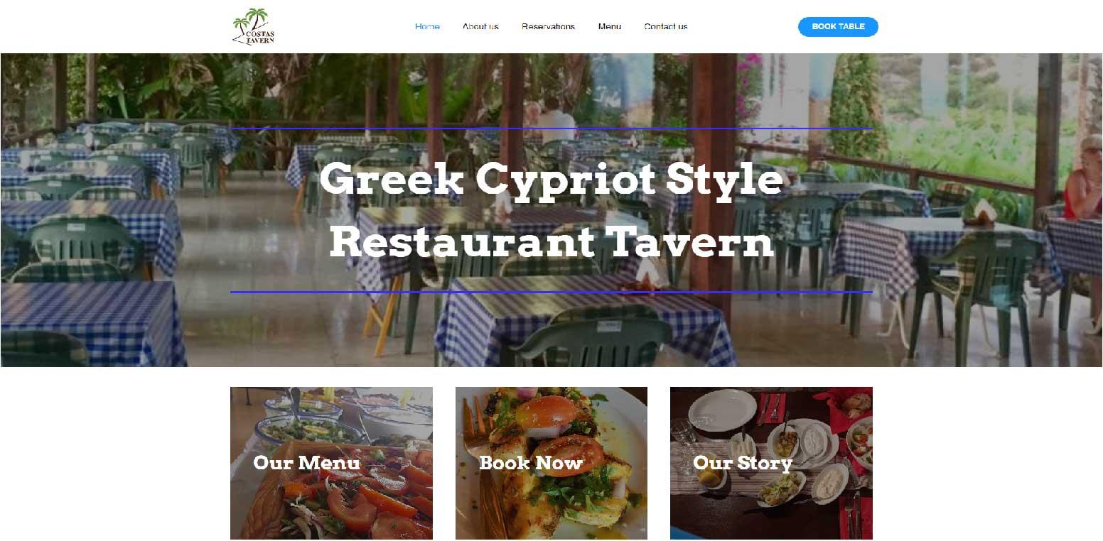 Costas Tavern Website